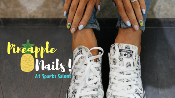 pineapple nail art - spark salons toronto
