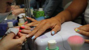 pineapple nail art- spark salon toronto